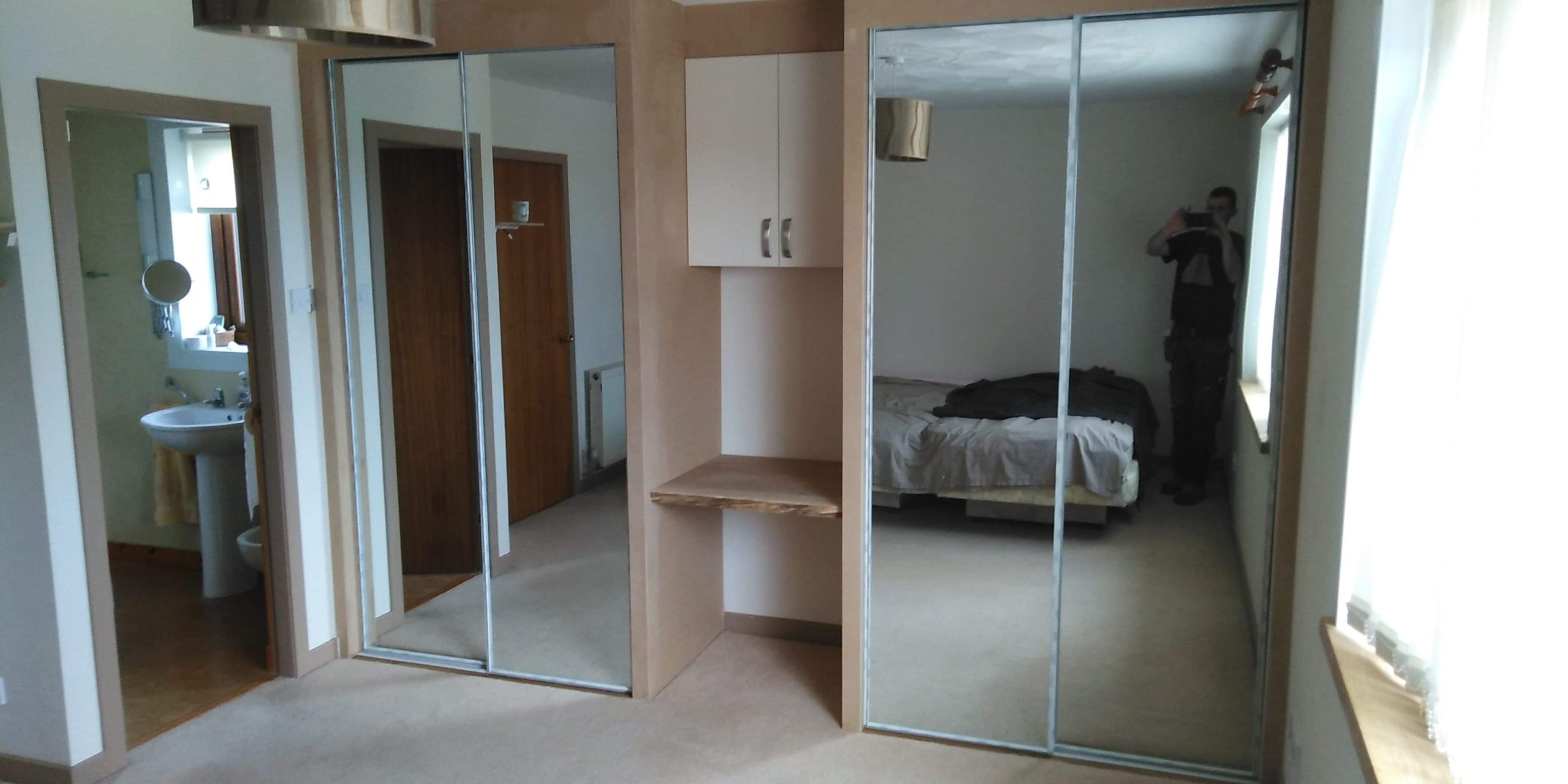 Two Mirrored Wardrobes
