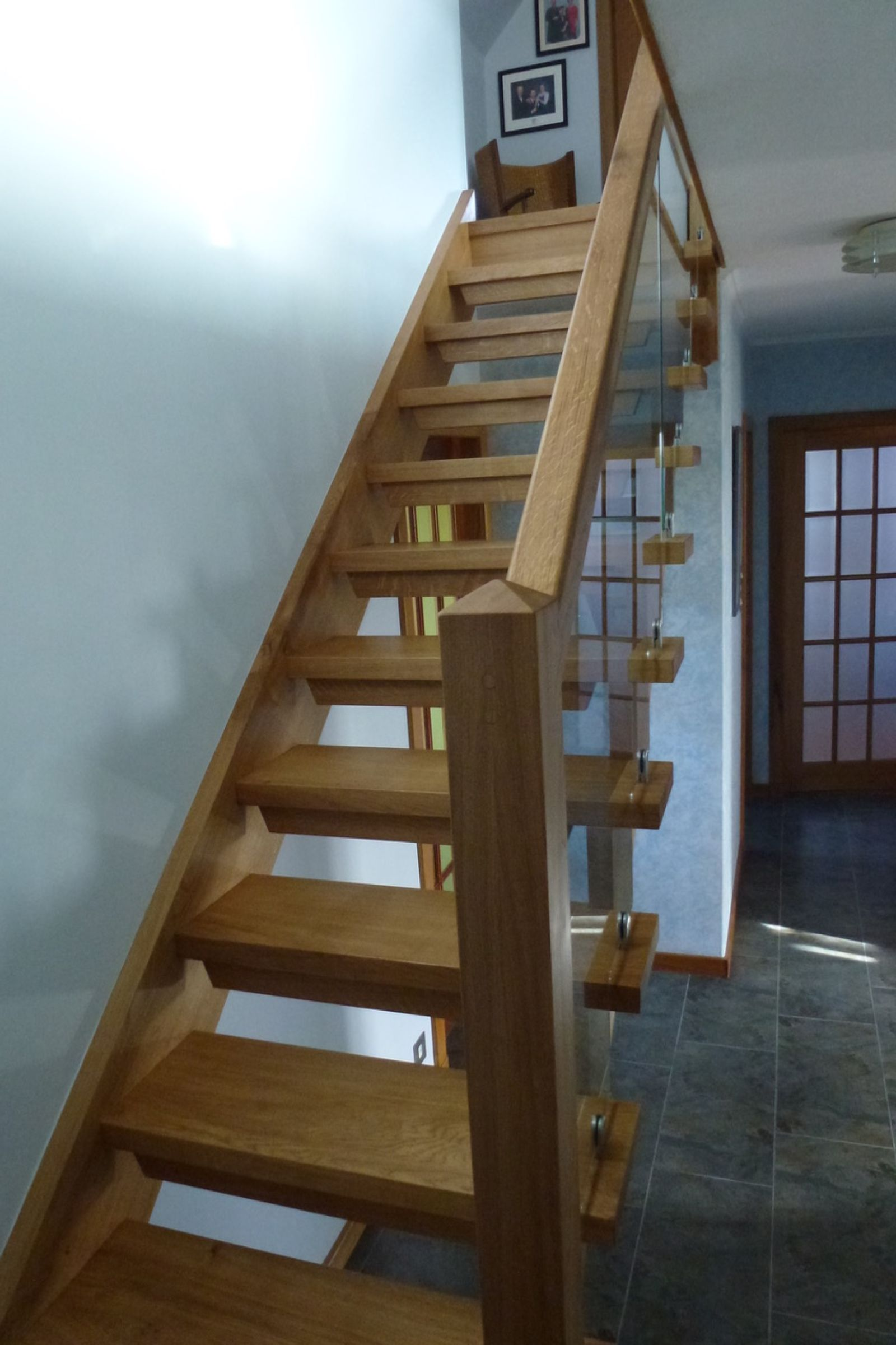 Staircase in Scottish Oak