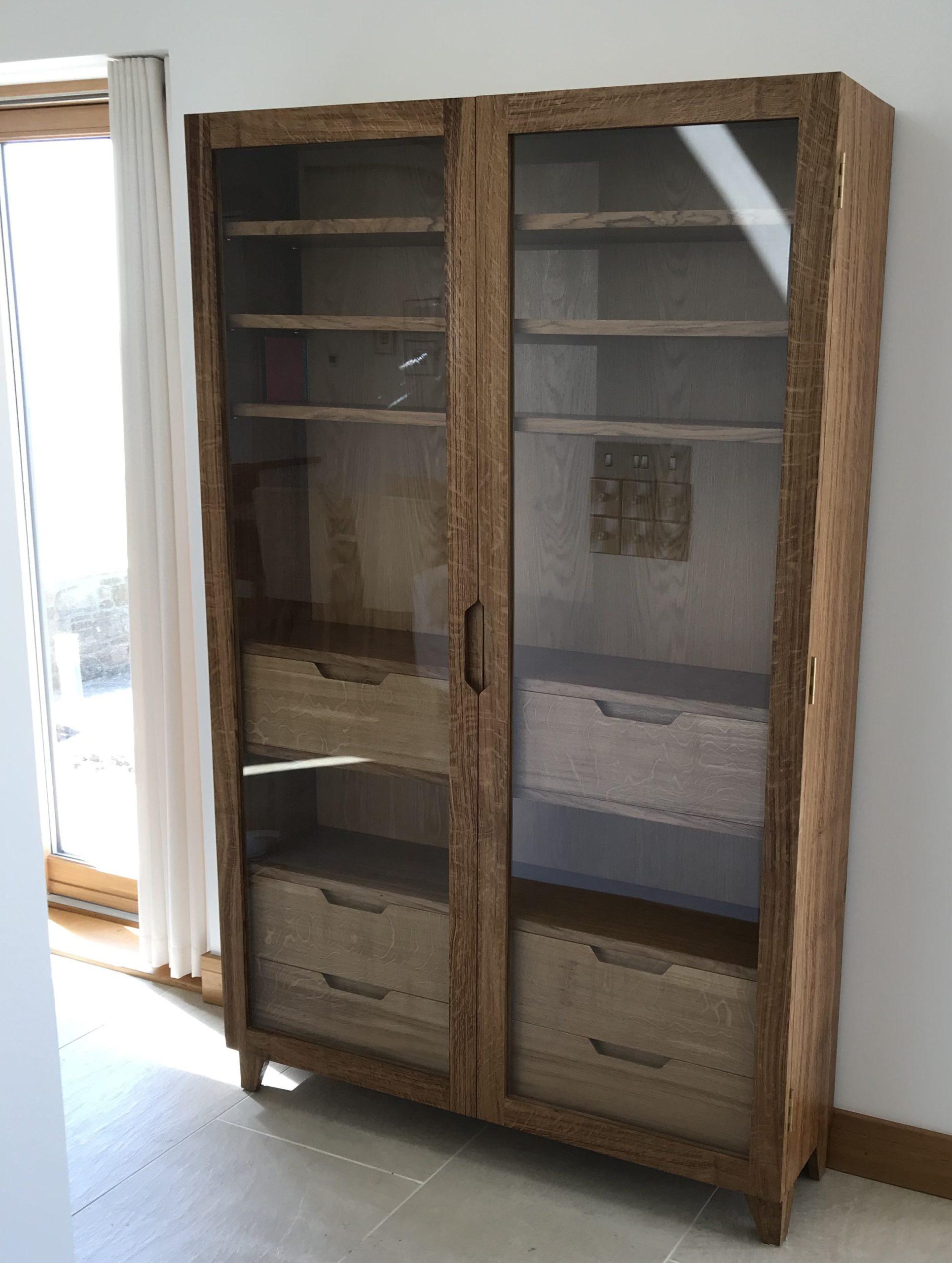 Bespoke Scottish Oak display Cabinet