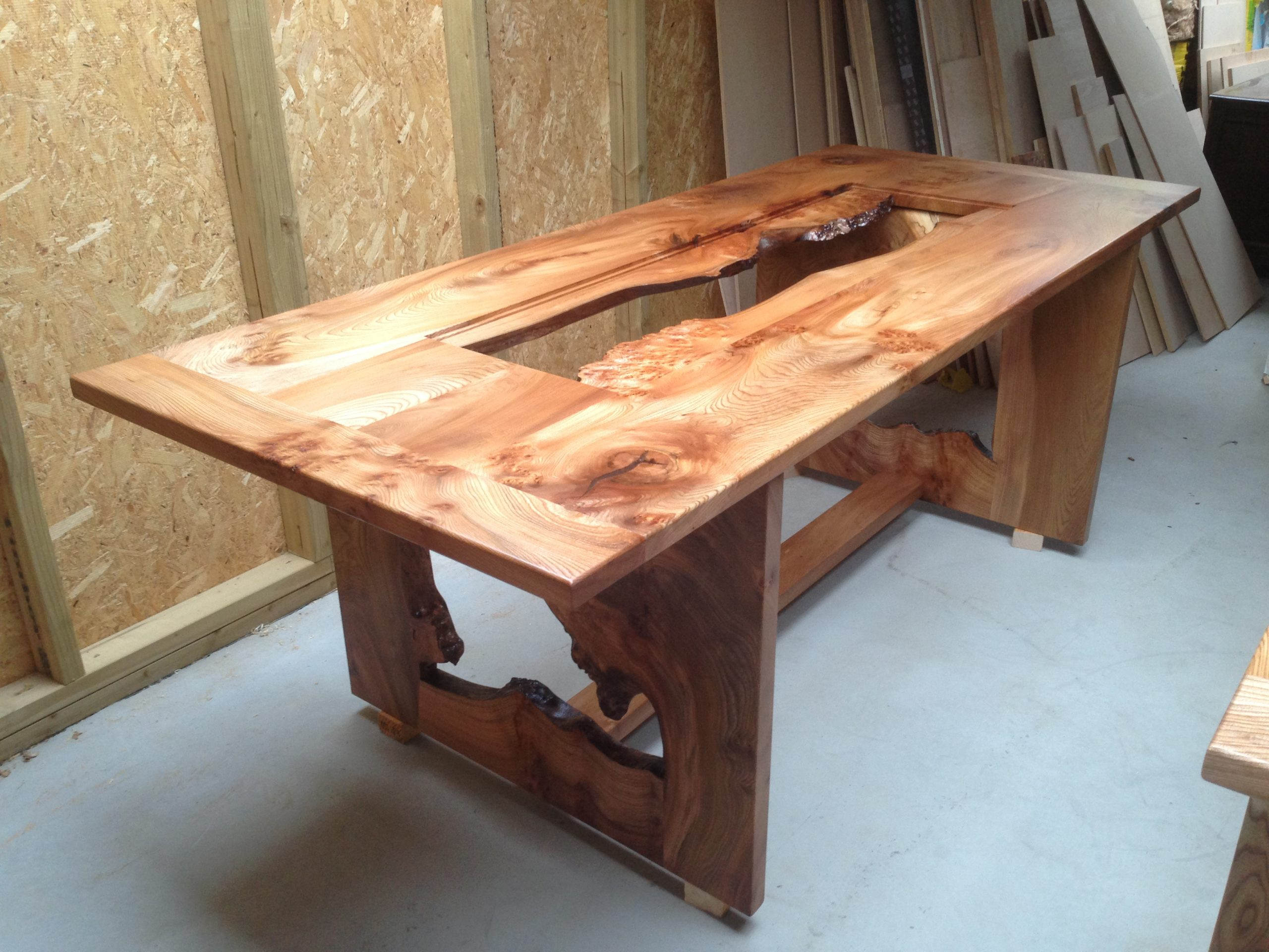Elm Dining Room Table.