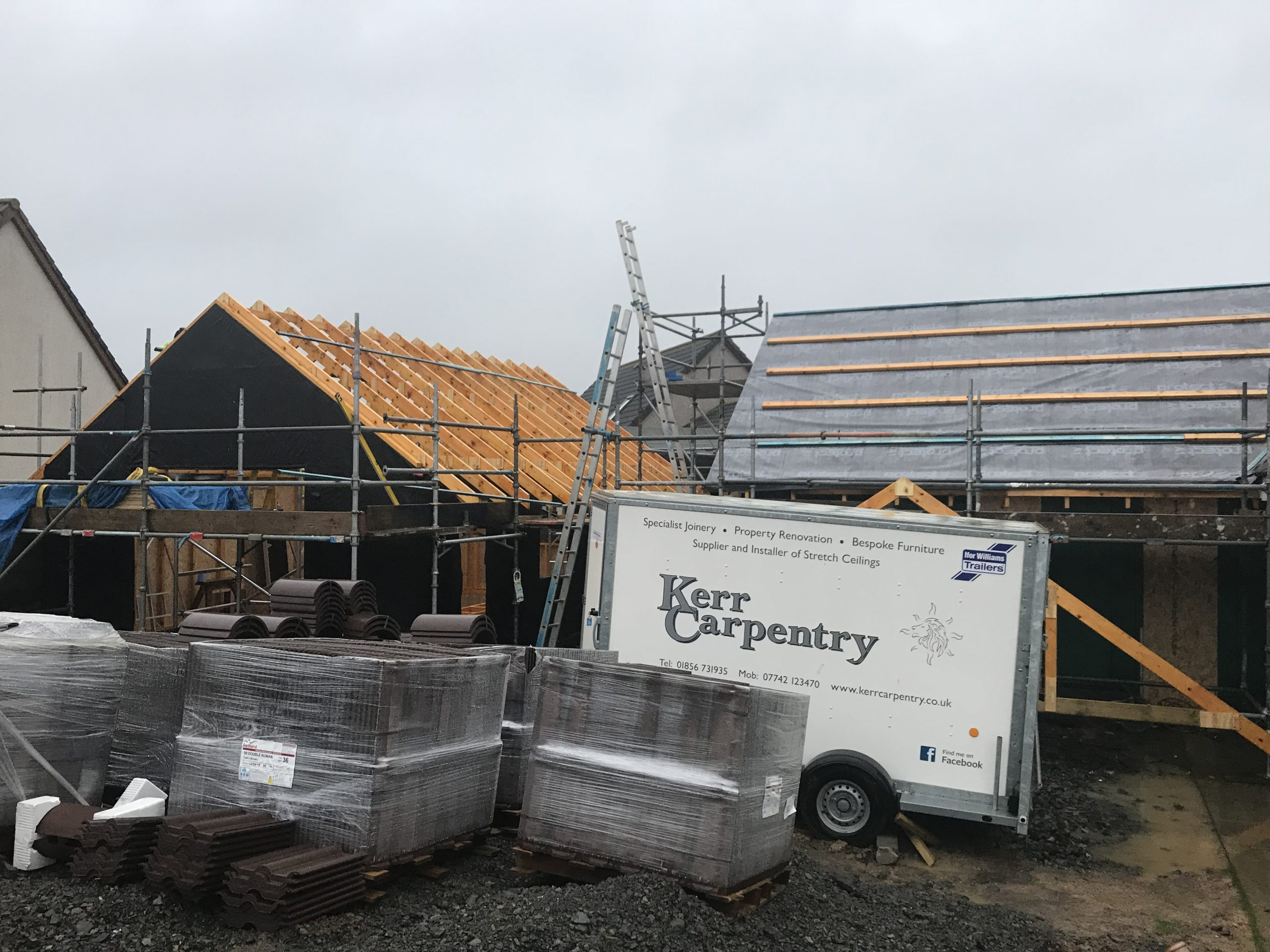 New build Garage and extension going up.