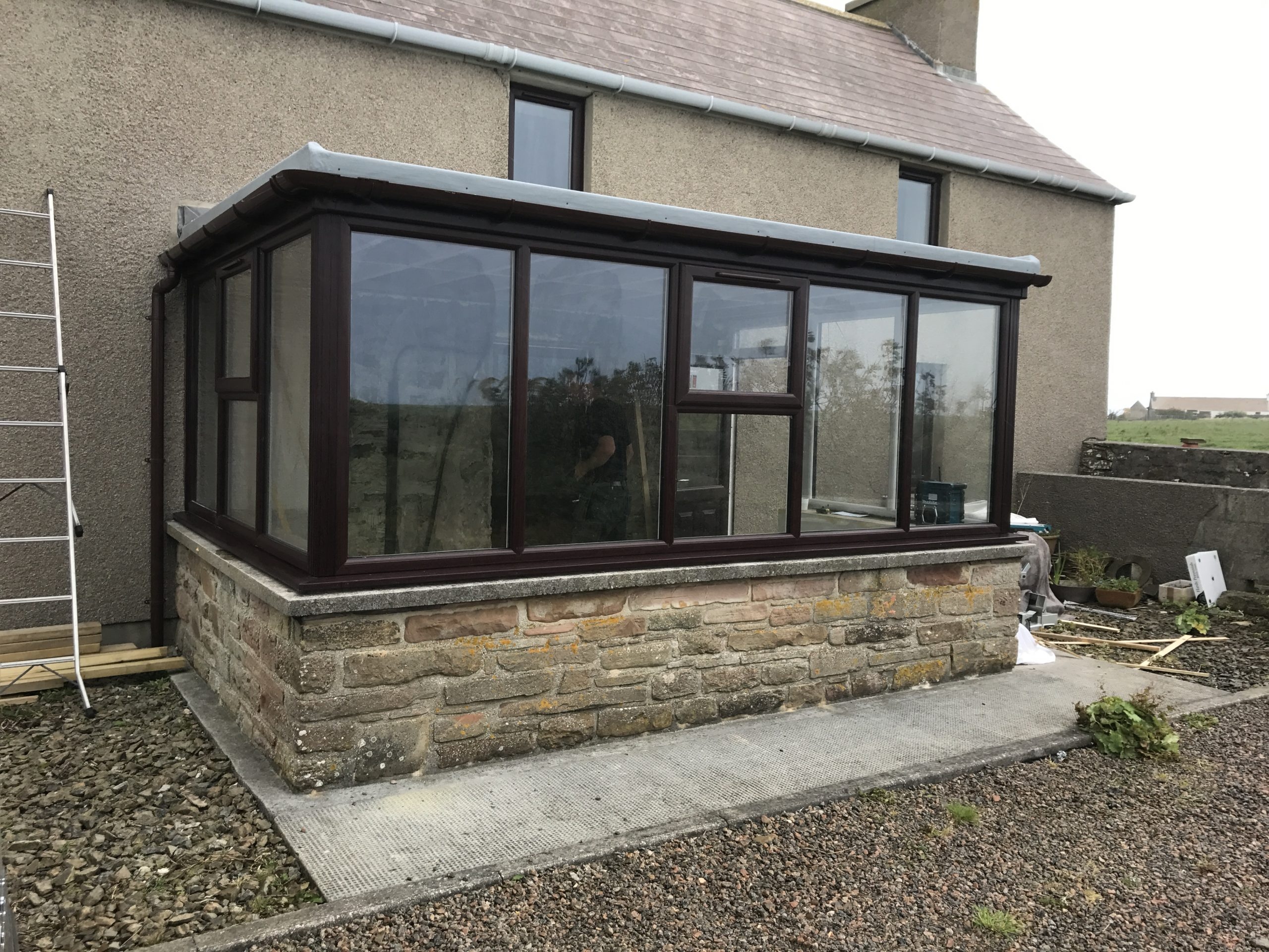 PVC Porch Fitted.