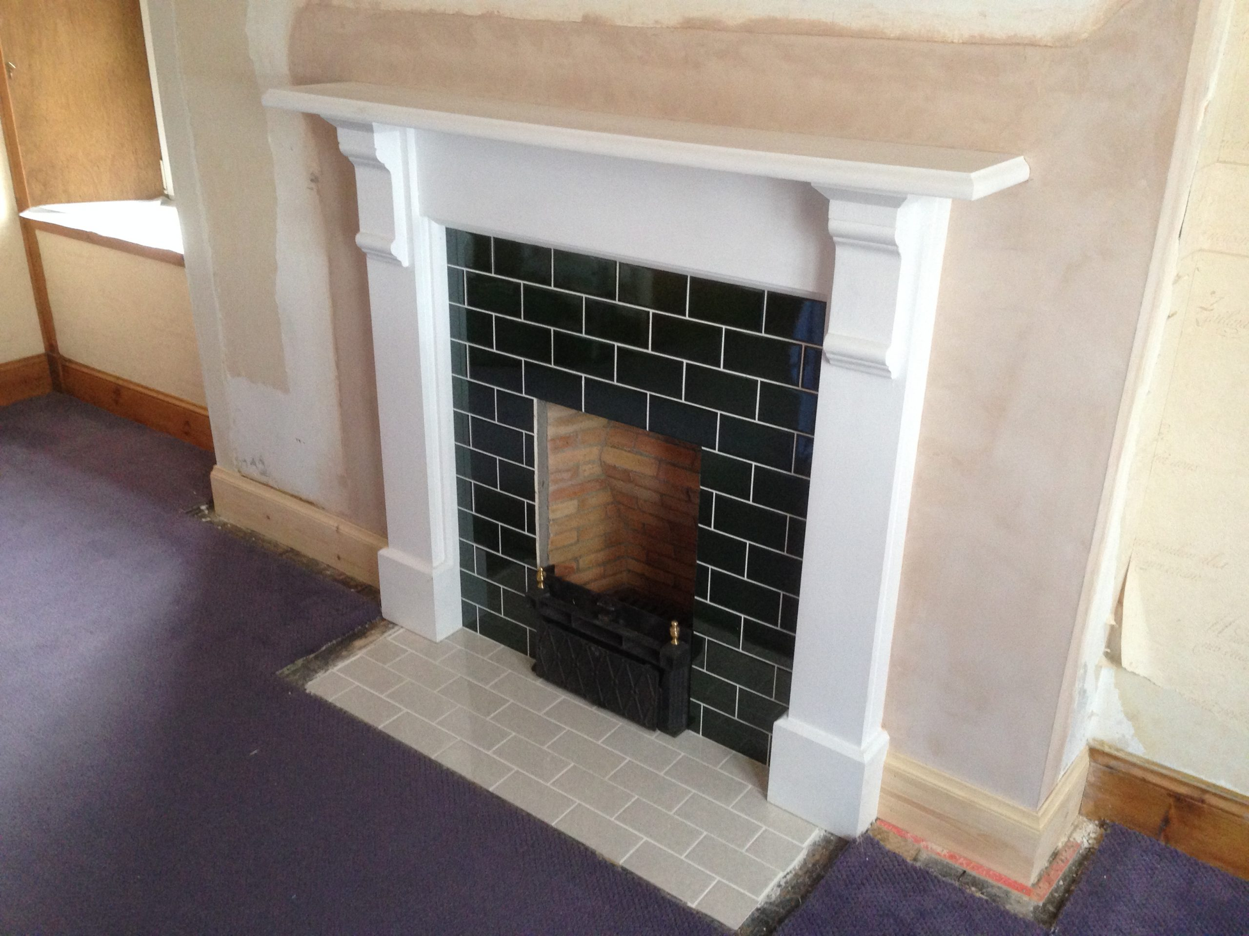 Painted Pine Fire Surround.