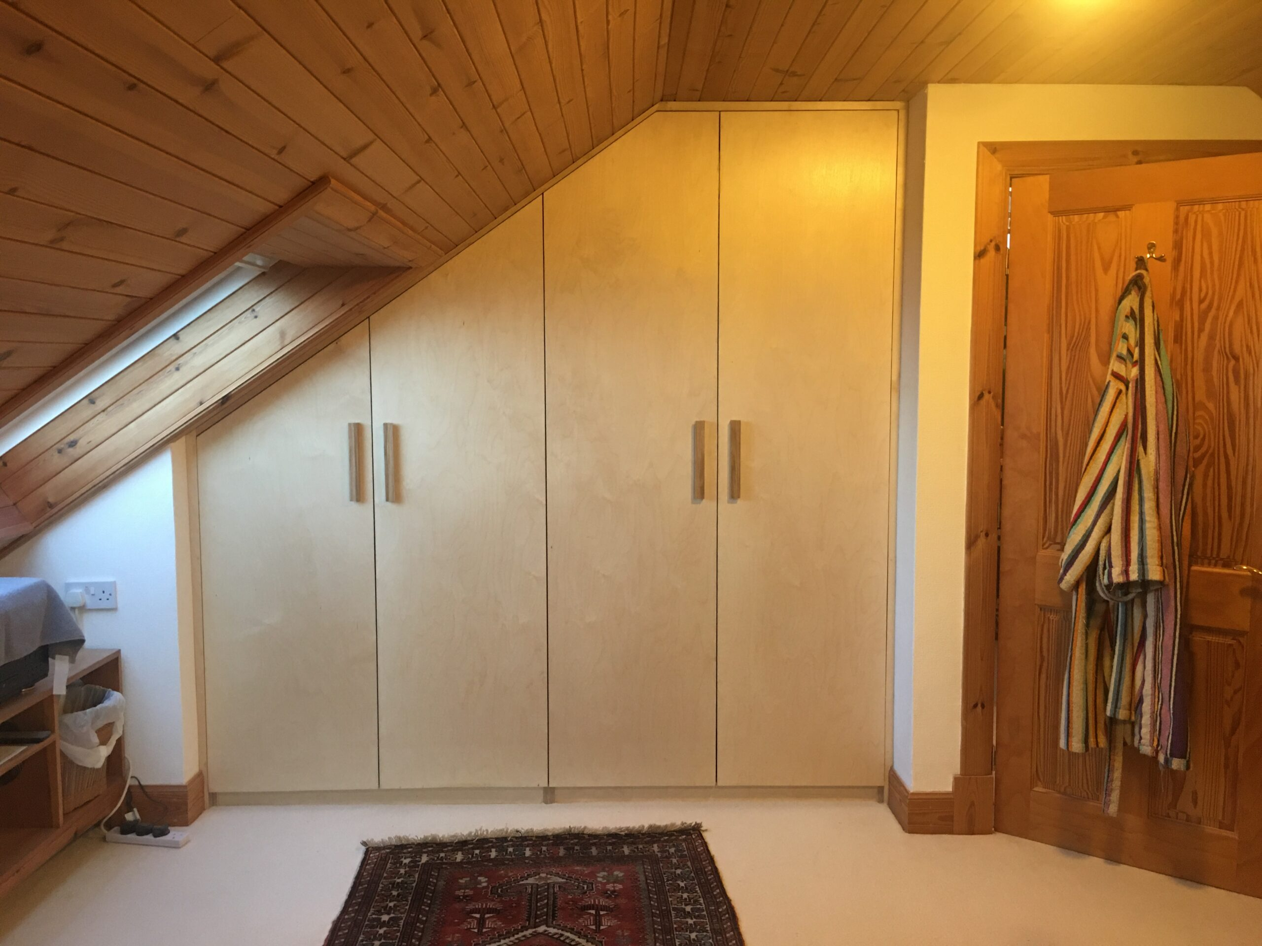 Bespoke birch ply wardrobe